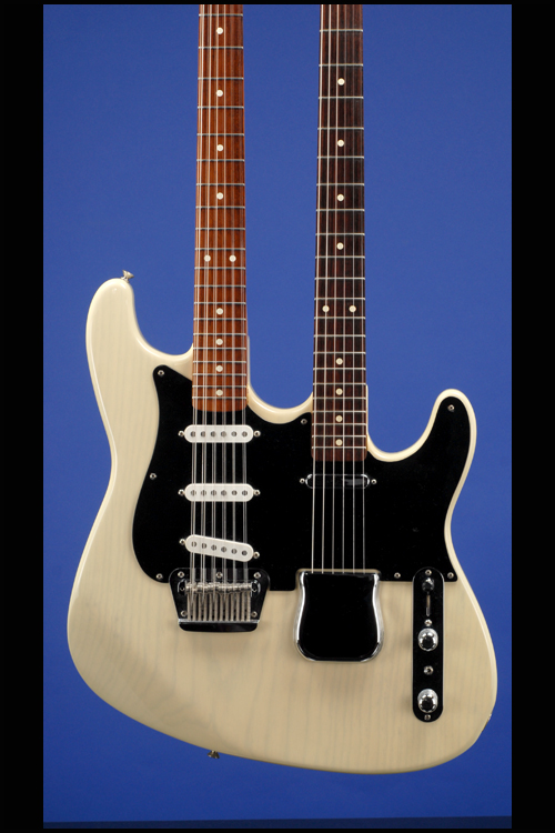 custom shop double neck telecaster 12 string fred stuart guitars fretted americana inc. Black Bedroom Furniture Sets. Home Design Ideas