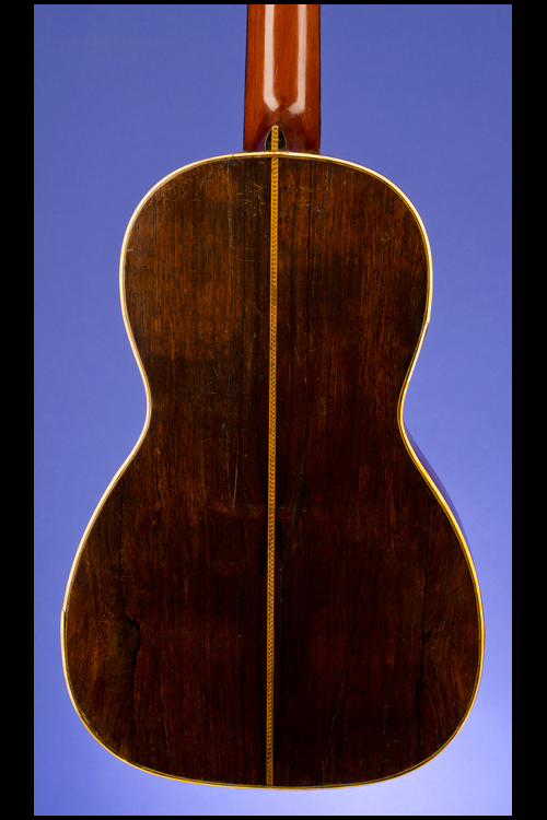 Parlor Guitar (12 fret to body) with 'Fan-Tail' abalone