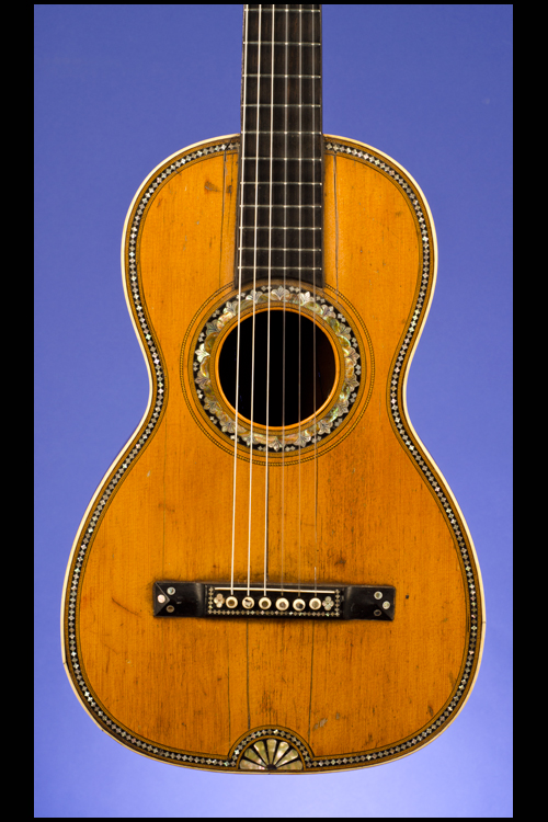 Parlor Guitar (12 fret to body) with 'Fan-Tail' abalone inlay