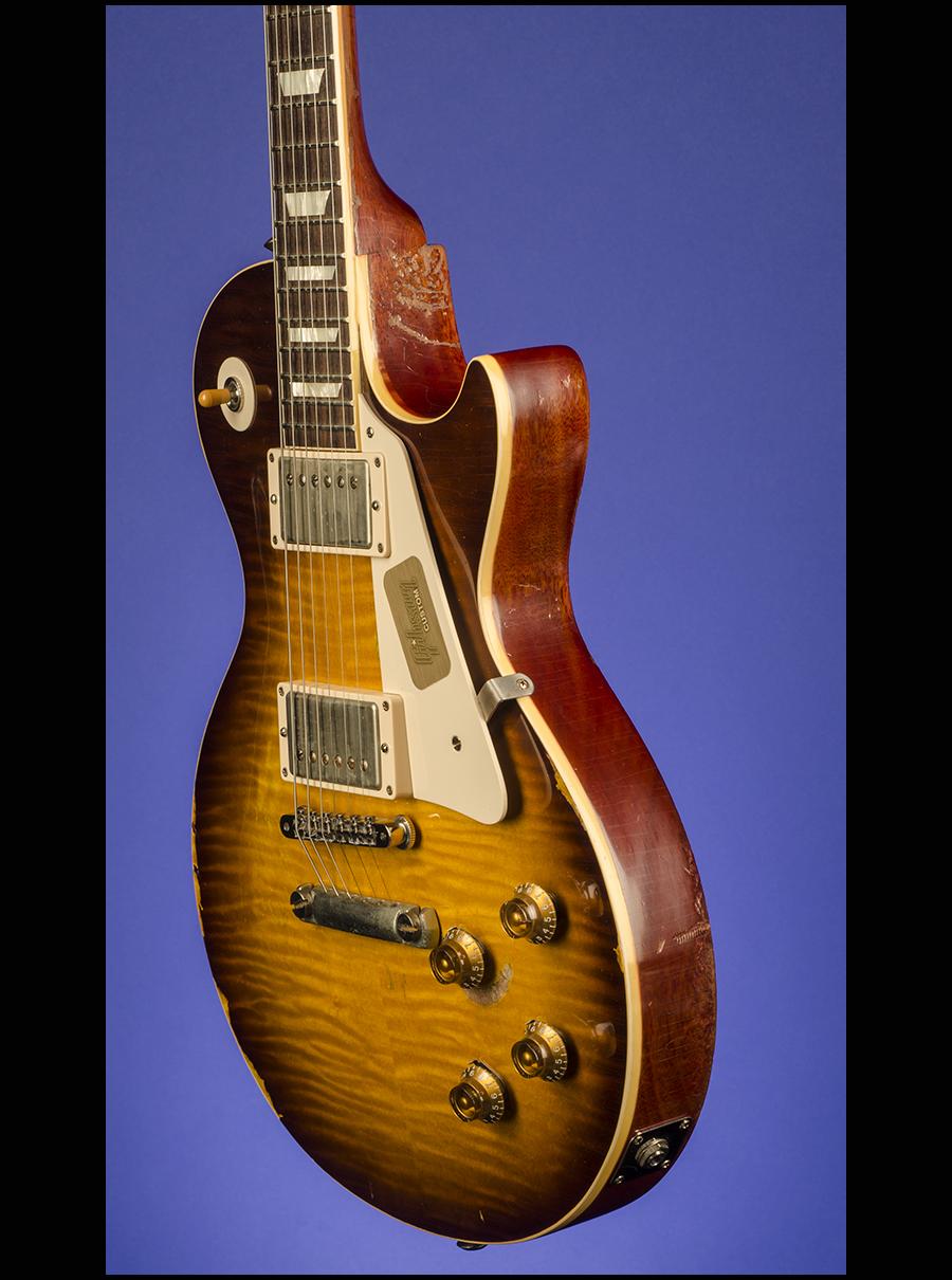 joe perry 39 59 les paul standard aged by tom murphy guitars fretted americana inc. Black Bedroom Furniture Sets. Home Design Ideas