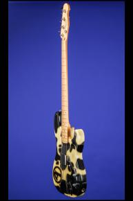 1994 Fender Tracii Guns 'Cowhide' Precision Bass (Larry Brooks) hand-painted by
