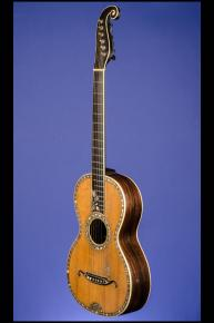 1850 Markneukirchen 'Stauffer-Style' Parlor Guitar -  12 fret to body with 'Rose