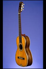 1850 Markneukirchen Martin-Style Parlor Guitar (12 fret to body) with 'Fan-Tail'
