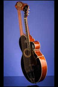 1915 Gibson Style 'U' Harp Guitar with 10 sub bass strings