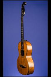 "1850 Markneukirchen ""Stauffer Style"" Parlor Guitar 12 fret to body"